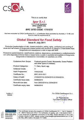 certificazione BRC Food Safety
